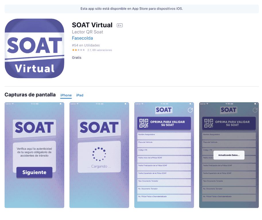 Aplicación Soat virtual