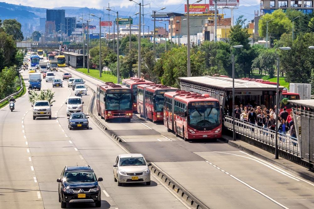 Transmilenio en Bogotá